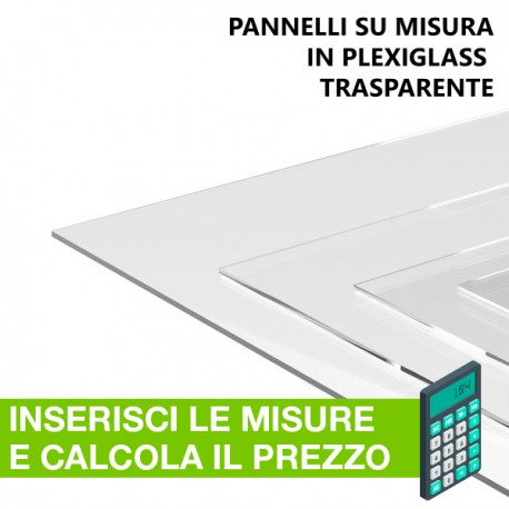 plexiglass trasparente spessore mm.5