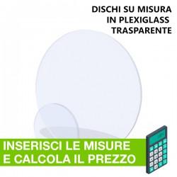 Disco in Plexiglass Trasparente su misura