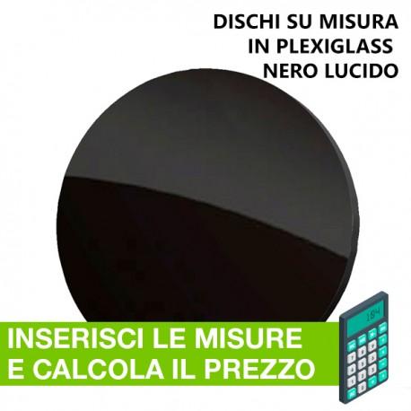 Disco in plexiglass nero su misura