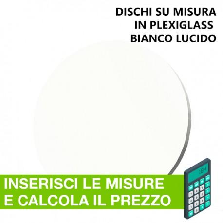 Disco in plexiglass bianco su misura