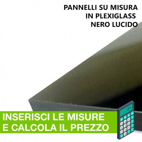 plexiglass nero lucido su misura