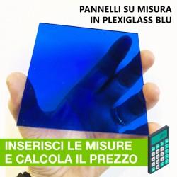 Pannello in Plexiglass BLU su misura