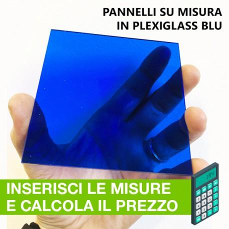 pannelli in plexiglass BLU su misura