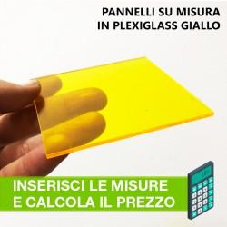 Pannello in Plexiglass GIALLO su misura