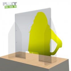 Parafiato trasparente plexiglass mm.3 personalizzabile