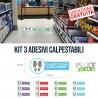Kit 3 Adesivi Calpestabili AntiCovid