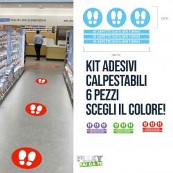 Kit 6 Adesivi Calpestabili AntiCovid