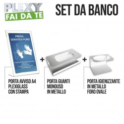 Set espositori da banco metallo e plexiglass