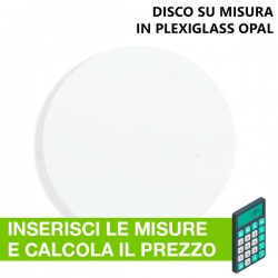 Disco in Plexiglass Opal su misura