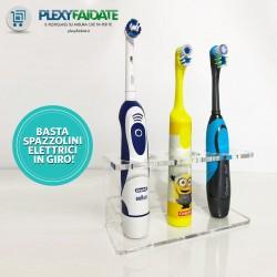 Porta spazzolino elettrico in plexiglass