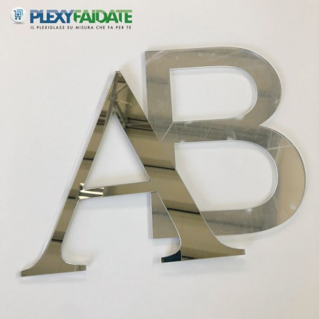 Lettere in plexiglass Specchio spessore mm.3