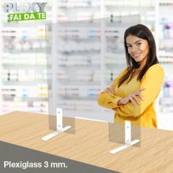 """Parafiato """"Easy"""" plexiglass mm.3 personalizzabile lunghezza max cm.180"""