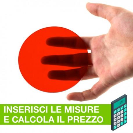Disco in plexiglass rosso su misura