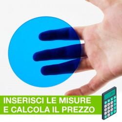 Disco in Plexiglass Blu translucido su misura