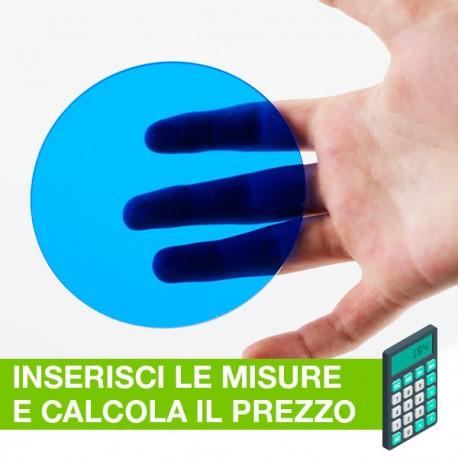 Disco in plexiglass blu su misura