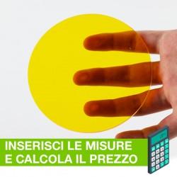 Disco in Plexiglass Giallo translucido su misura