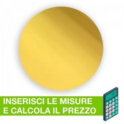 Disco in plexiglass specchio oro su misura