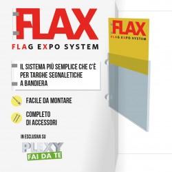 Targa a Bandiera in plexiglass spessore mm.2 - Flax System