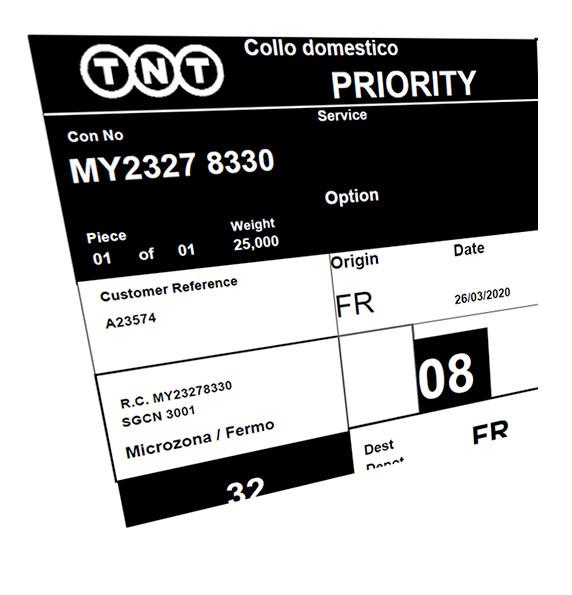 priority spedizione